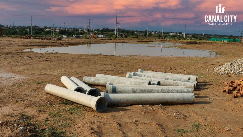 Canal-City-sewage-pipe-line-work-in-progress